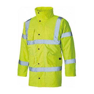 Dickies Hi Vis Motorway Safety Jacket – Yellow