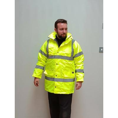 Dickies Hi Vis Motorway Safety Jacket – Yellow